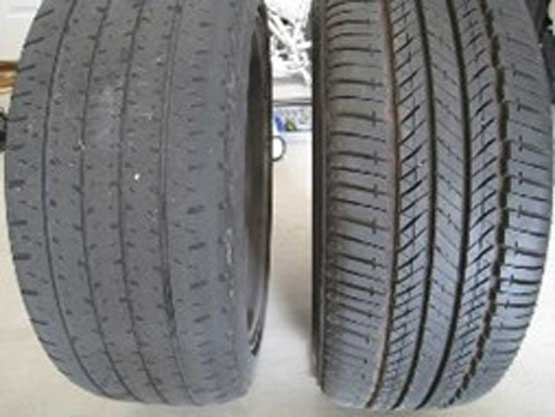 low tire tread