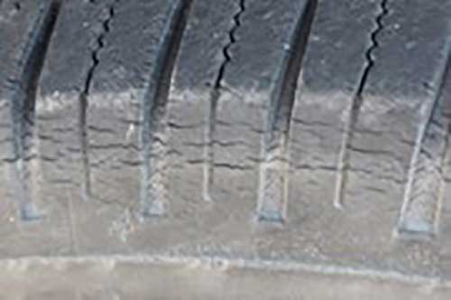 cracked tires