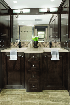 RV bahtroom interior